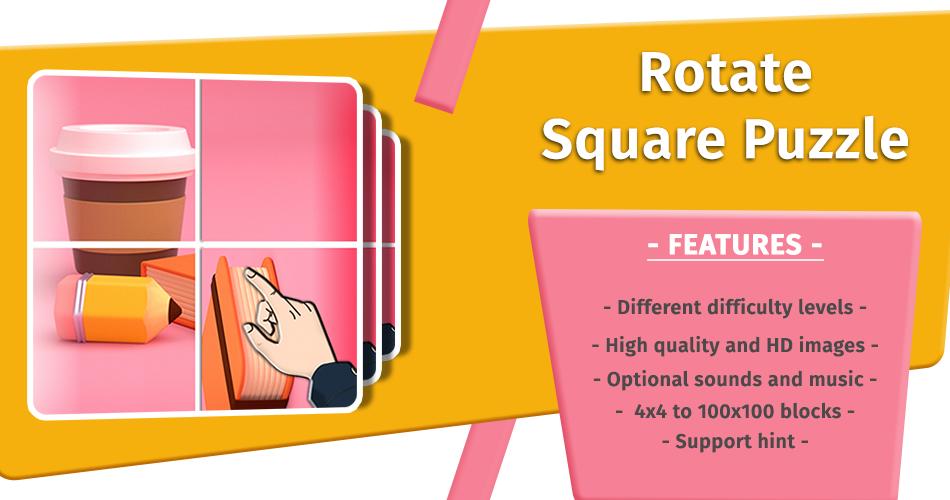Rotate Square Puzzle 3D